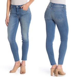 Mother Looker Ankle Fray Jeans- Birds is Paradise